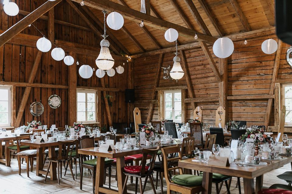 Tischdekoration Hochzeit Allgäu Berghochzeit
