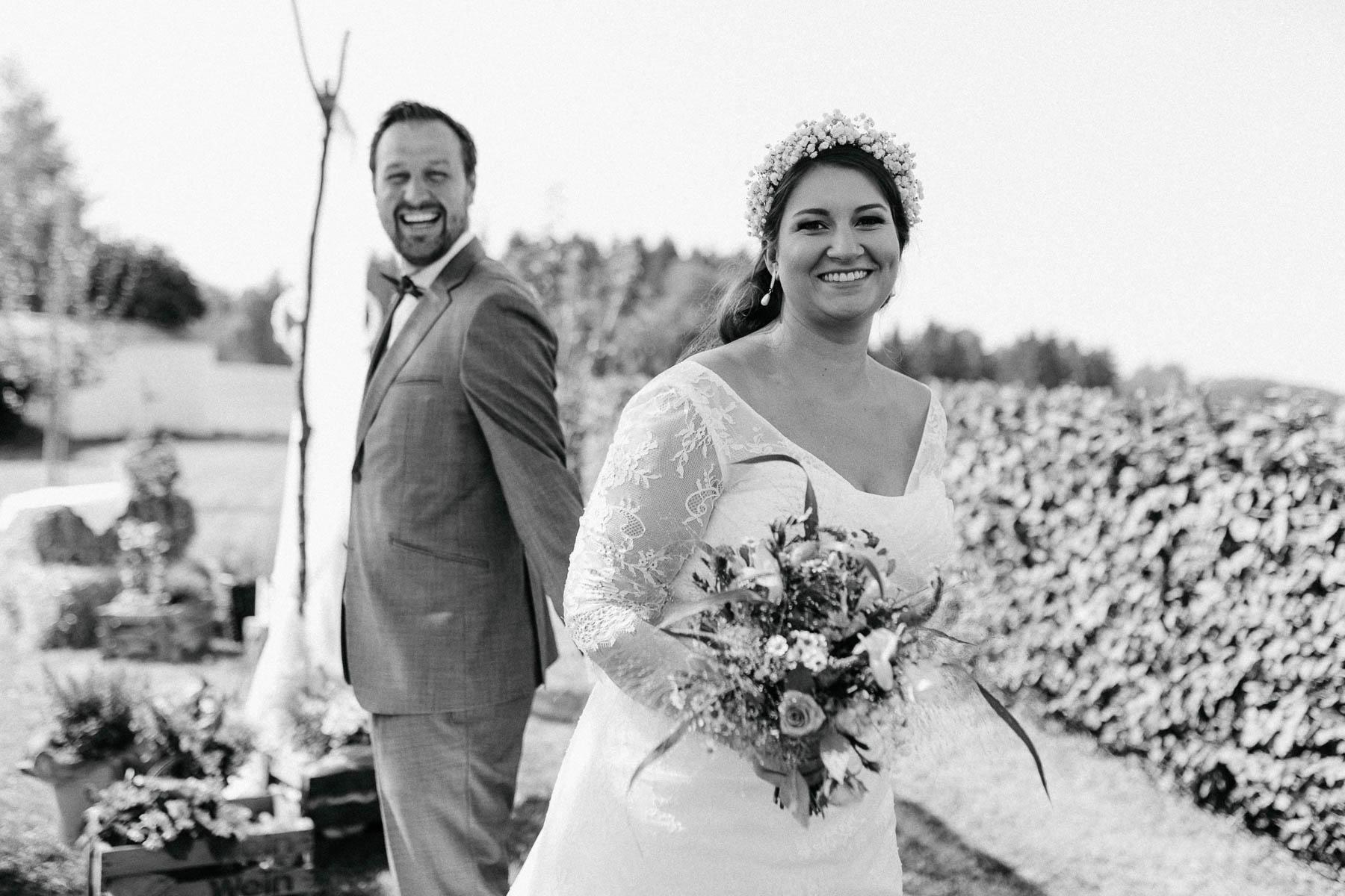 Hochzeitsfotograf bei einer freien Trauung am Eisighof
