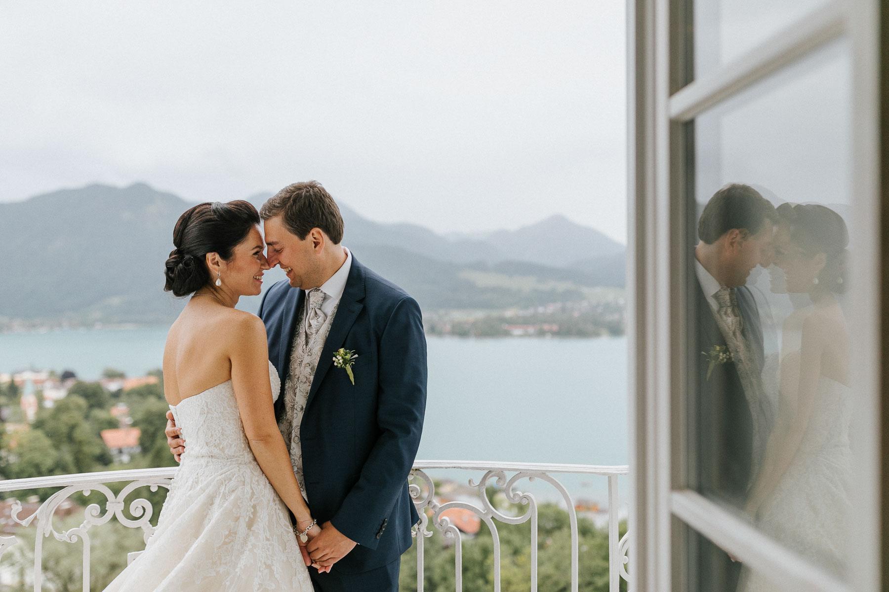 Hochzeit am Tegernsee und ich als Hochzeitsfotograf war im Hotel Das Tegernsee vor Ort