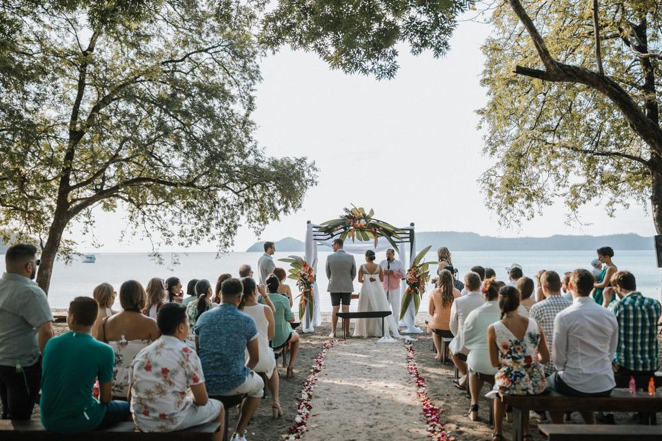 beach wedding in costa rica at the playa panama beach